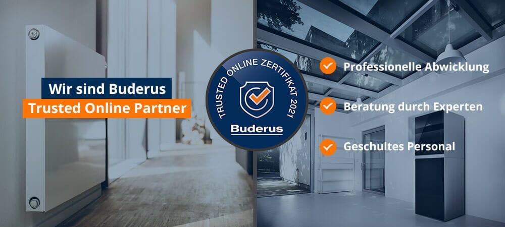 Buderus Trusted Online Partner 2021