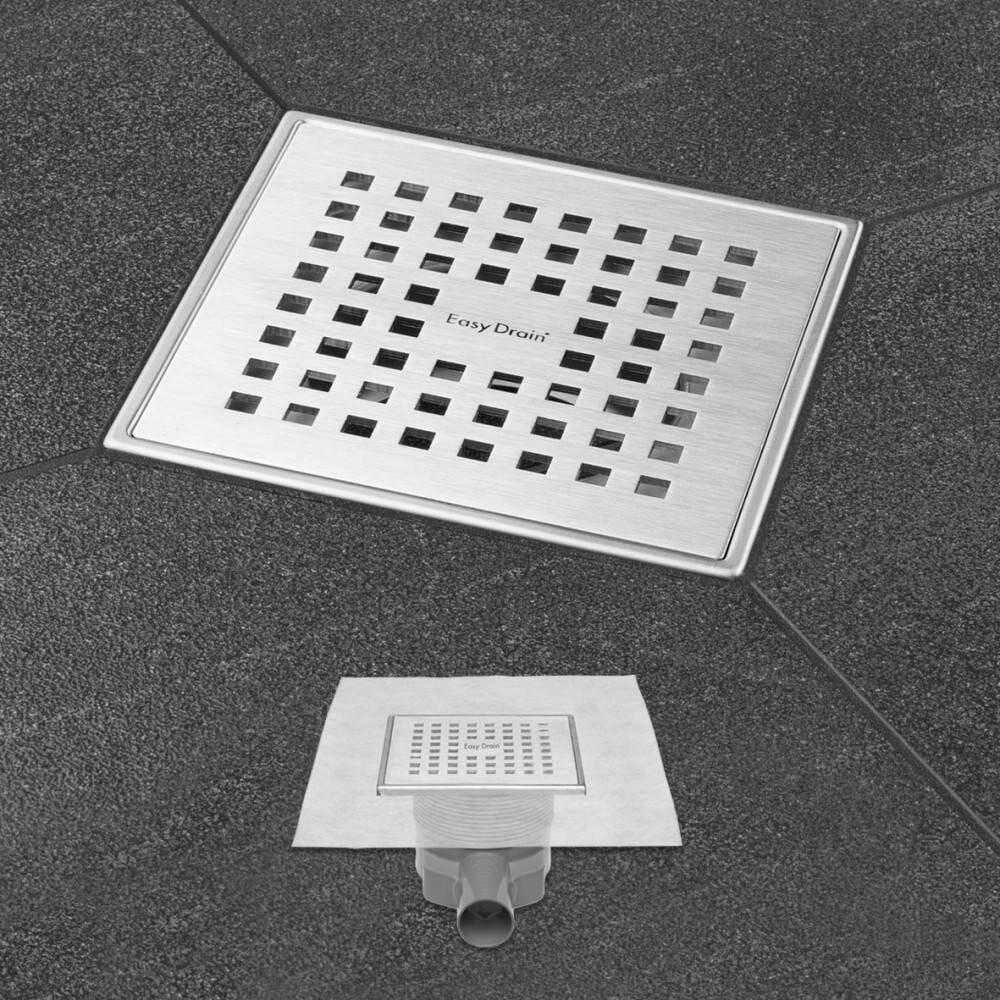 ESS Easy Drain Aqua Plus Quattro Bodenablauf Quadrat 15 x 15 cm