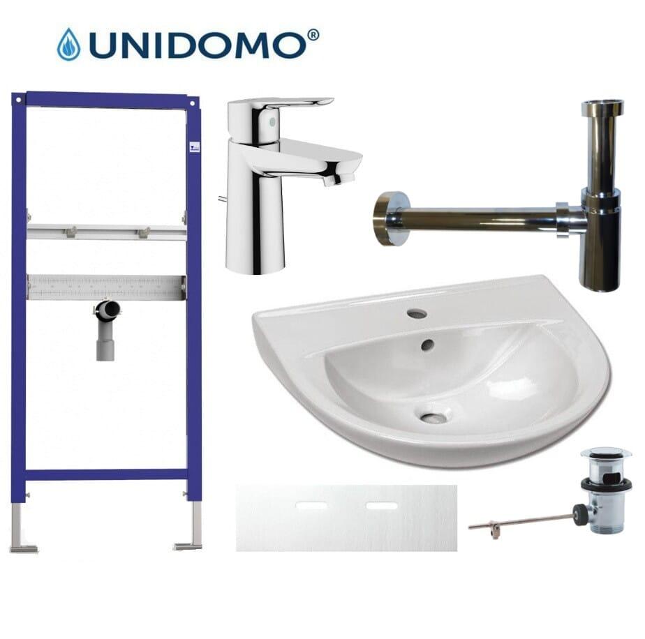 Komplett-Set Waschbecken mit Vorwandelement Grohe BauEdge