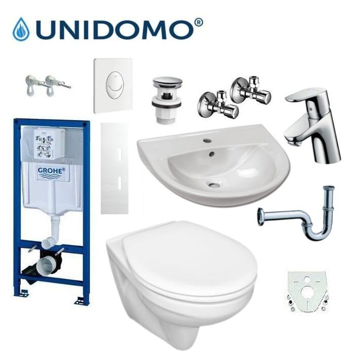 Badezimmer Renovierungskomplettset UD-KS 2 WC Waschbecken Armatur