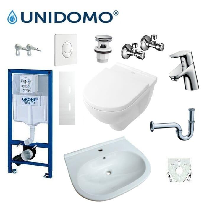 Badezimmer Renovierungskomplettset UD-KS 3 WC Waschbecken Armatur