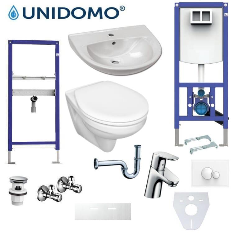 Badezimmer Renovierungskomplettset UD-KS 4 WC Waschbecken Armatur