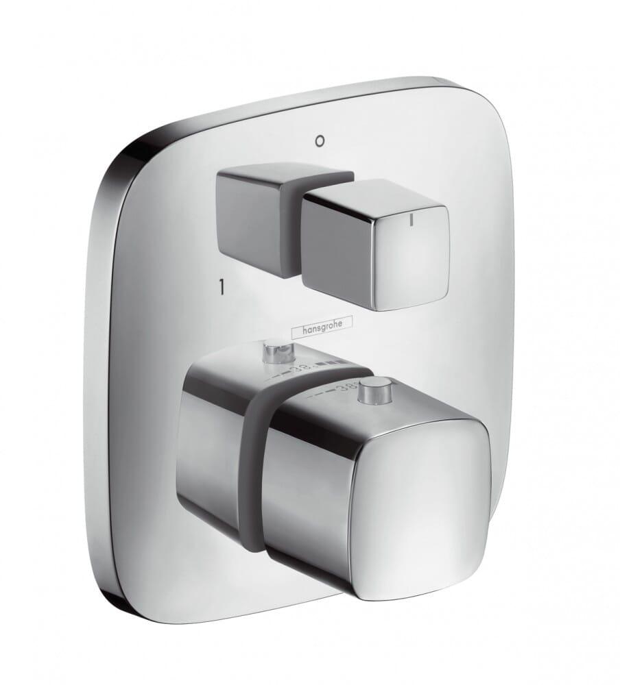 Hansgrohe Thermostat Unterputz PuraVida mit Absperr-und Umstellventil