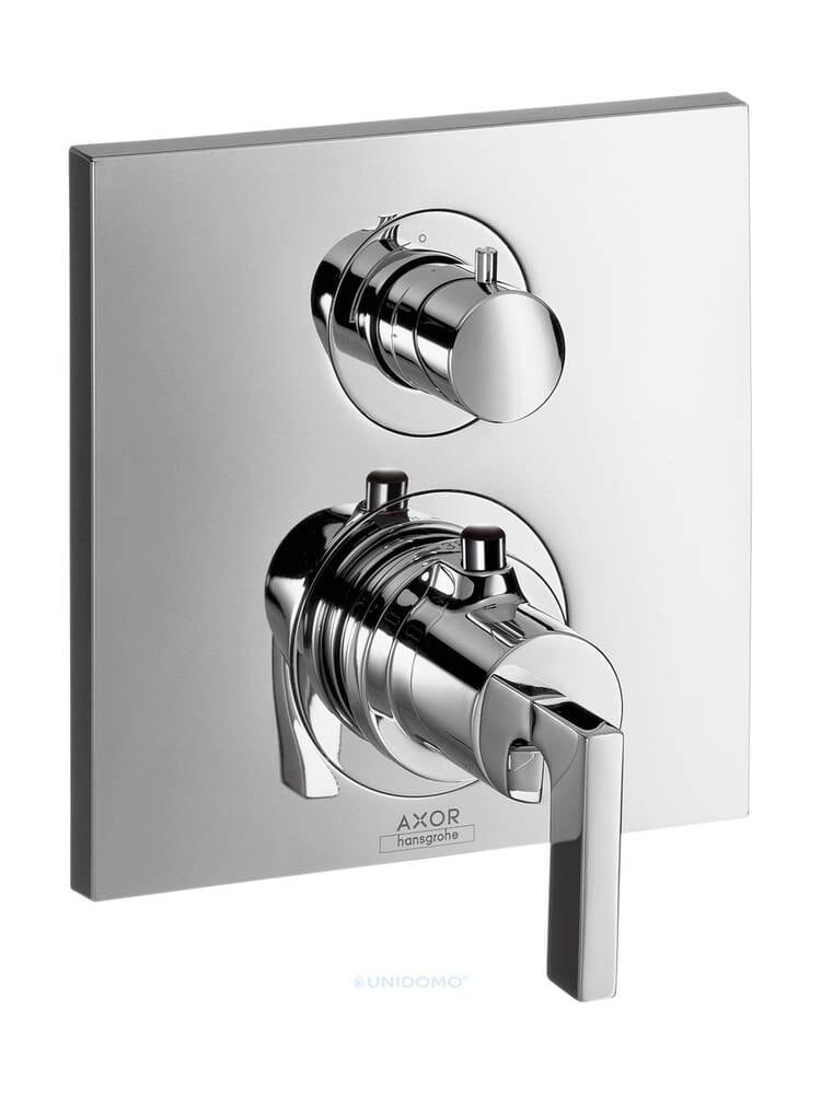 Hansgrohe Unterputz Thermostat Axor Citterio Absperr-Umstell Hebelgriff