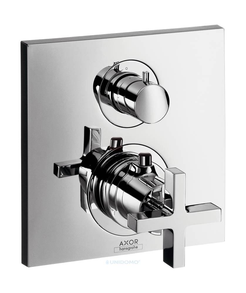 Hansgrohe Unterputz Thermostat Axor Citterio Absperr-Umstell Kreuzgriff
