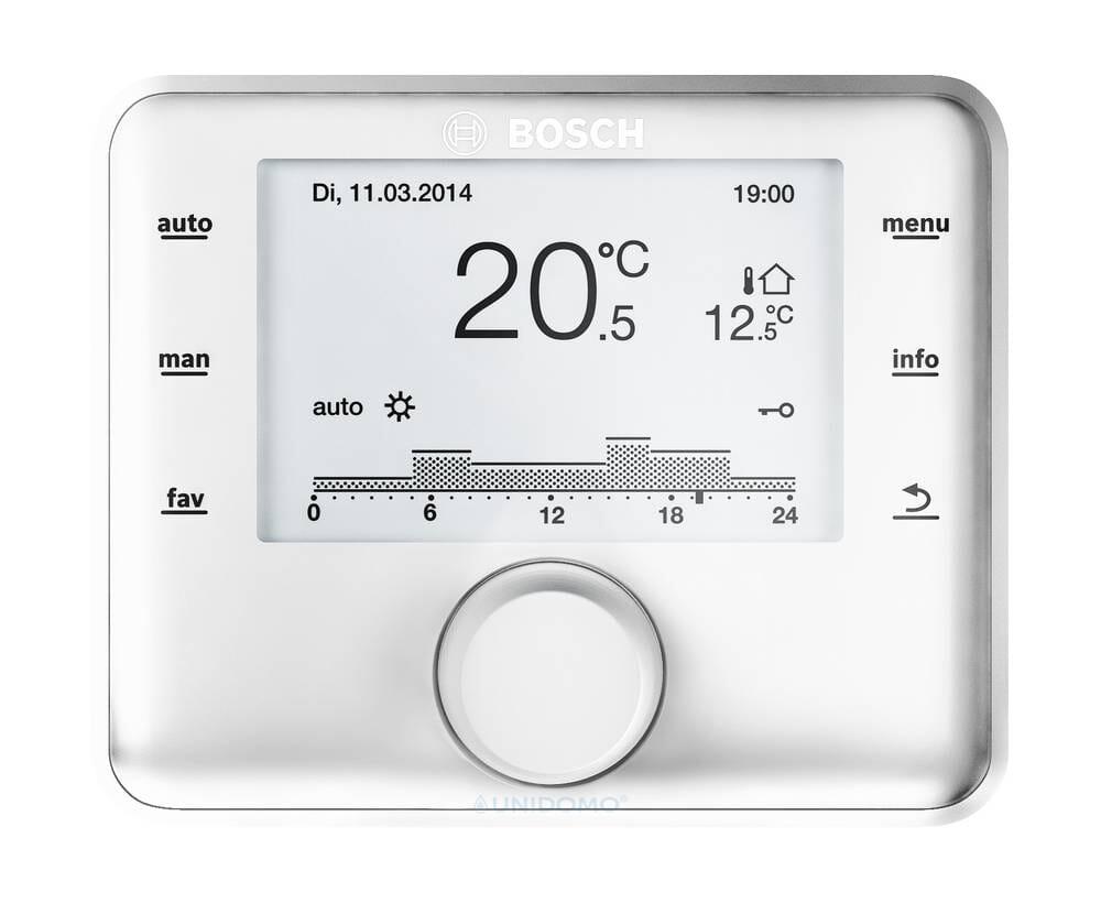 Bosch außentemperaturgeführter Regler CW400 für bis 4 Heizkreise und 2 WW-Ladekreise