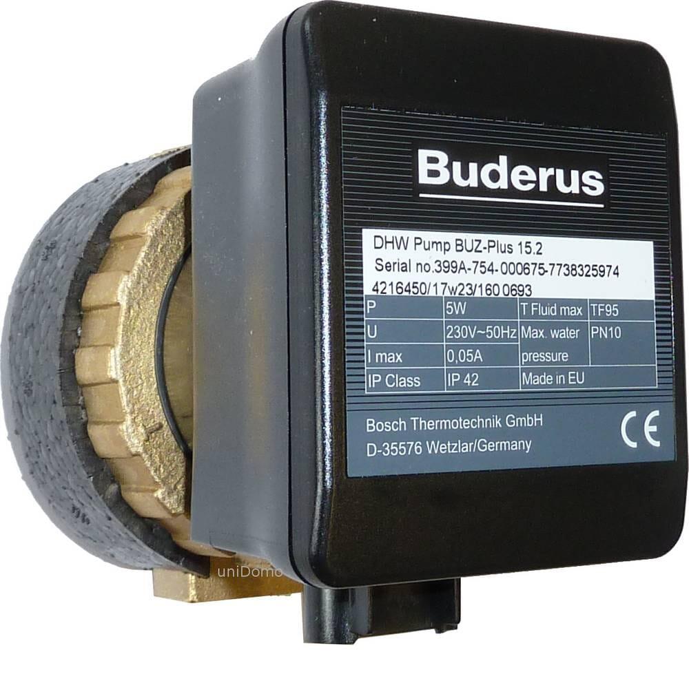 Buderus Zirkulationspumpe Logafix BUZ-Plus 15, 15A oder 15C Trinkwasserpumpe