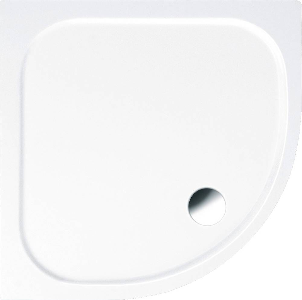 Duschwanne Viertelkreis Acryl DW3 mit 80x80 cm, 90x90 cm oder 100x100 cm