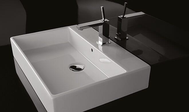 Repabad Waschtisch / Waschbecken Genf 60 x 45 cm mit / ohne Hahnloch