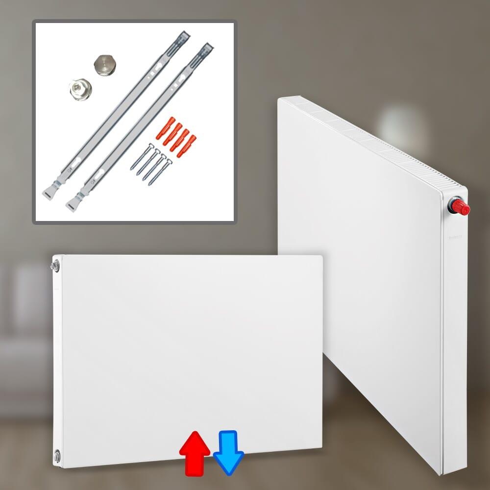 Buderus VCM-Plan Ventilheizkörper Mittelanschluss Typ 11, 21, 22 & 33 Höhe: 300 – 900 mm Länge 400-3000 mm