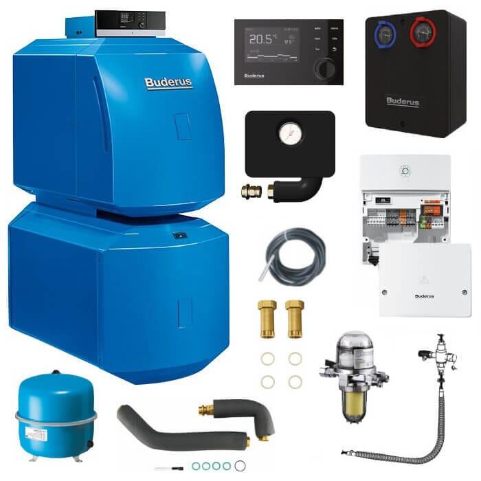 Buderus Logaplus-Paket K31 Öl-Brennwert-Heizung GB125 mit MC110 und RC310