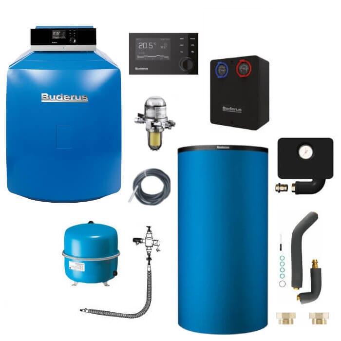 Buderus Logaplus-Paket K32 Öl-Brennwert-Heizung GB125 mit MC110 und RC310