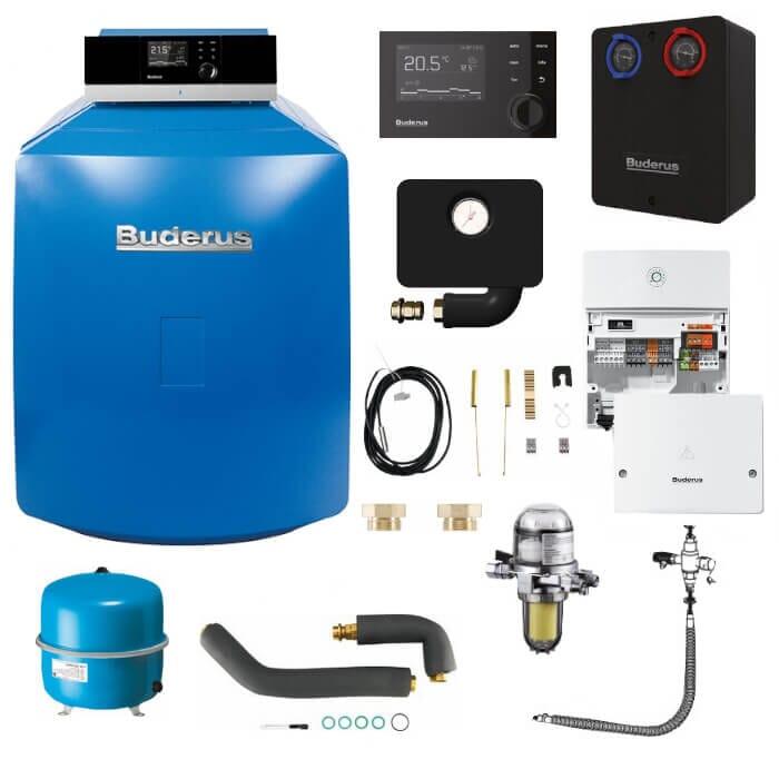 Buderus Logaplus-Paket K33 Öl-Brennwert-Heizung GB125 mit MC110 und RC310
