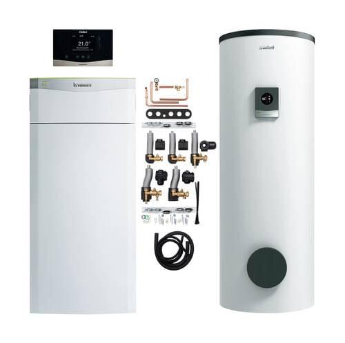 Vaillant Paket 4.401- 4.403 Wärmepumpe flexoTHERM exclusive VWF 57/4 87/4 117/4 mit Speicher und Regelung