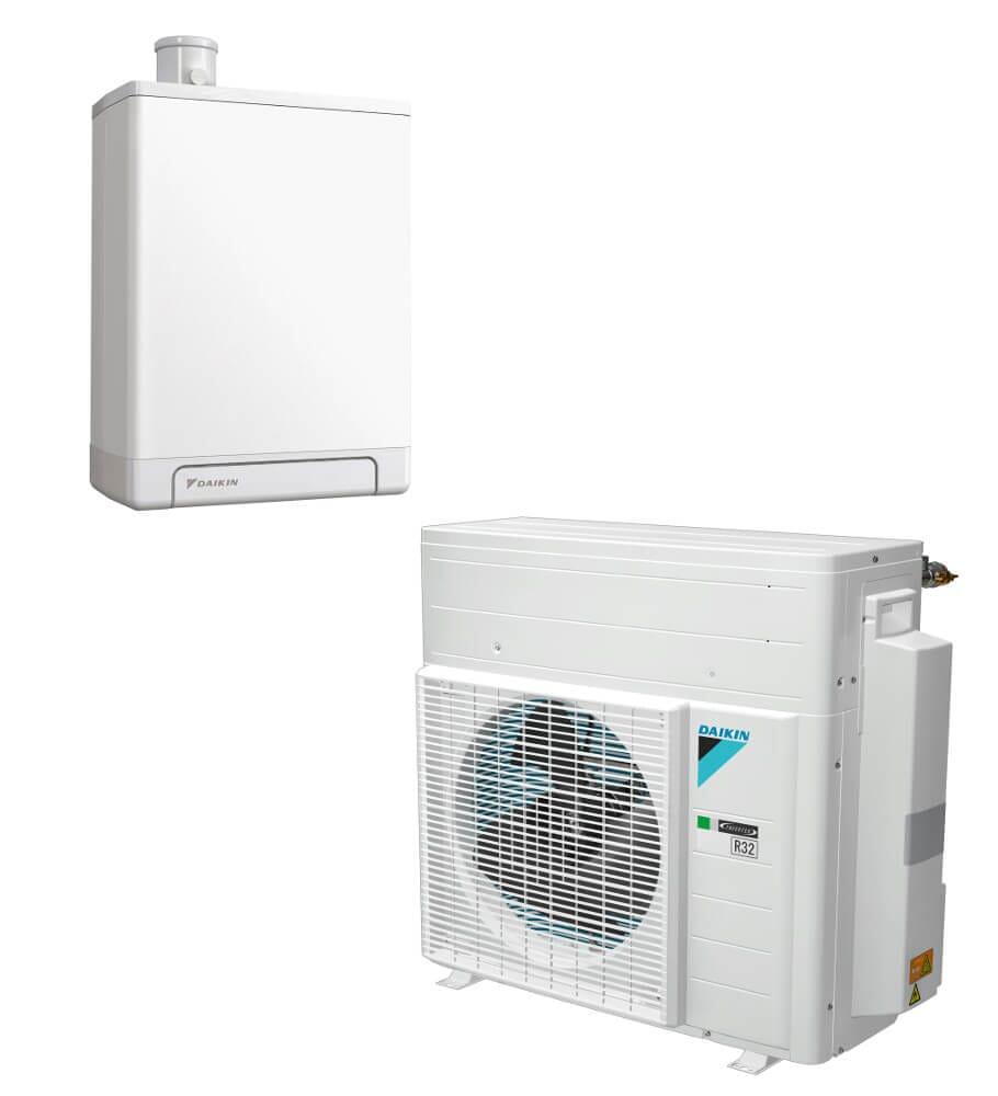Daikin Altherma H Hybrid Heizung Luft Wärmepumpe 4 kW mit 28/32 kW Gasheizung