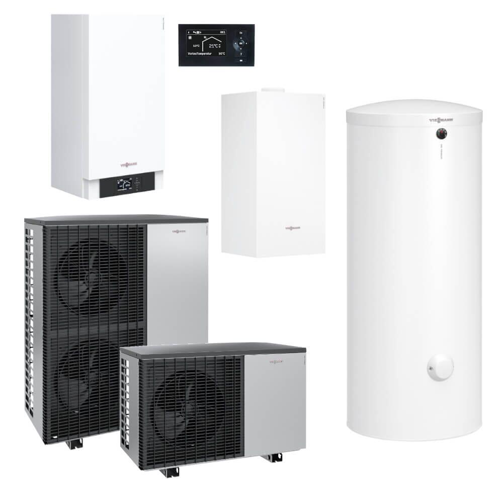 Viessmann Paket Luft/Wasser-Wärmepumpensystem Vitocal 200-S AWB-M-E-AC/AWB-E-AC 201.D... mit Vitocell 100-W 300l