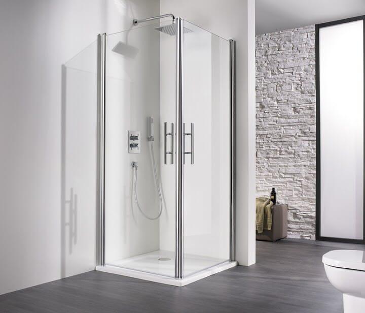 HSK Duschkabine Eckeinstieg Schwingtüren 2-teilig Höhe 200 cm verschiedene Maße