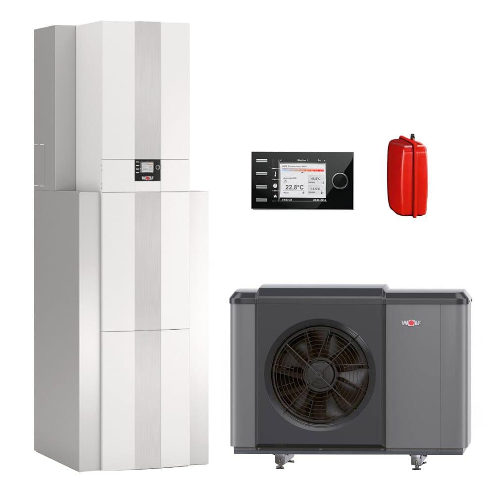 Wolf Wärmepumpencenter CHC-Monoblock 07/200 oder 10/200 mit Wärmepumpe CHA + Speicher + BM-2