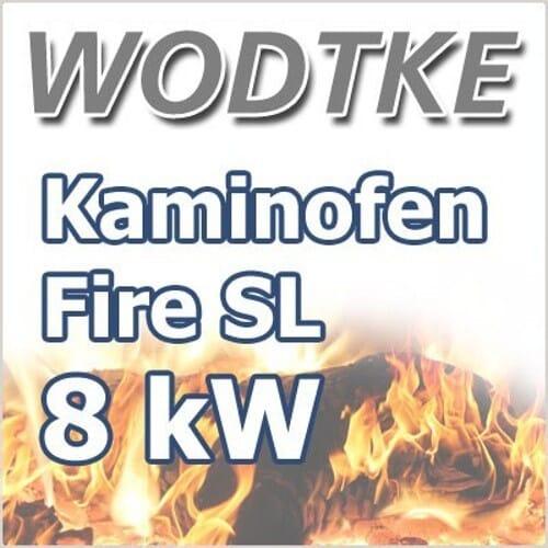Wodtke Fire SL Glas black Kaminofen drehbar 7,5 kW 098 601