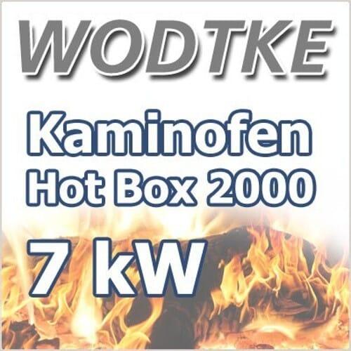 Wodtke Hot Box 2000 nouga Kaminofen mit Bodenadapter 7 kW Raumluftunabhängig 098219