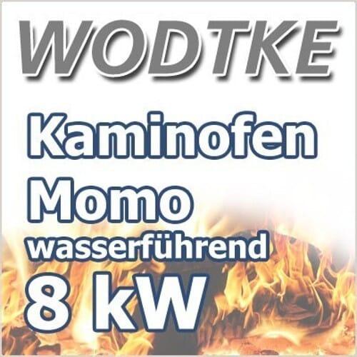 Wodtke Momo Water plus wassergeführter Kaminofen 8 KW Dekorplatte Speckstein 099 104