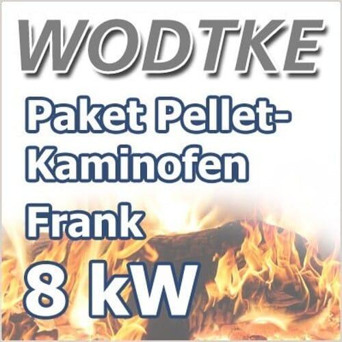 Wodtke Pelletofen Frank air+ 8 kW schwarz Art.Nr. 055 432