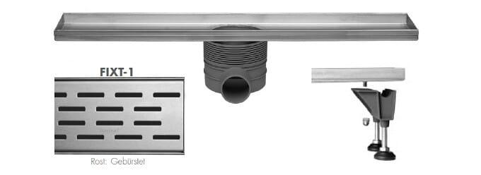 Easy Drain Multi Rohbauset Duschrinne Design Rost Fixt 500 - 1200 mm