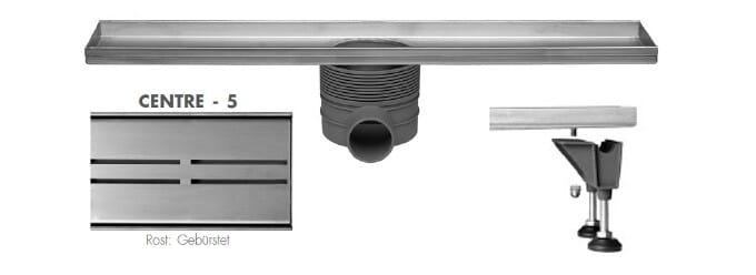 ESS Easy Drain Multi Rohbauset Duschrinne + Designrost Centre