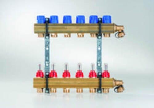 Buderus Empur Messing Heizkreisverteiler Systemverteiler HKV-D Durchflussmengenmesser