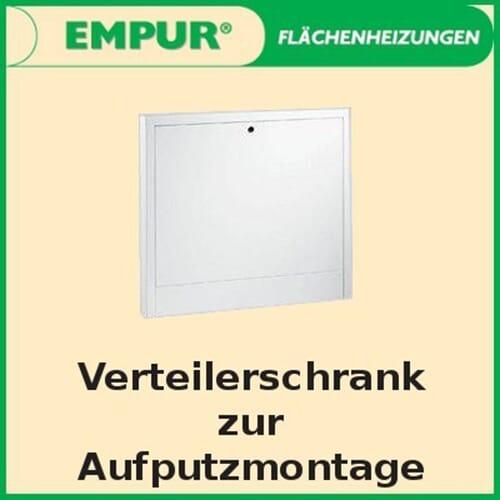 Empur Aufputz Verteilerschrank TOP-Standard Verteilerkasten Breite 520 - 1120 mm