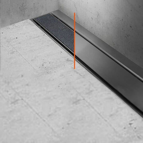 ESS Easy Drain Modulo 30 TAF Wall Zero / Fliese Duschrinne Komplettset
