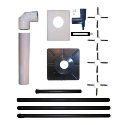 ATEC Abgas Paket DN 80/125 Brennwert Schornstein Kamin Abgas Rohr System starr