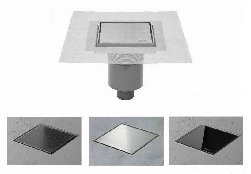 ESS Aqua Jewels Quattro Bodenablauf Quadrat Ablauf senkrecht / waagerecht