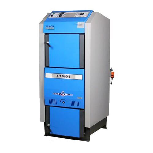 Atmos Holzvergaser GSX 50 Holzheizkessel / Festbrennstoffkessel mit 49 kW