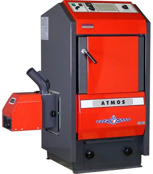 Atmos Pelletkessel / Pelletheizung P14 (14 kW) optional Pelletbrenner Schnecke