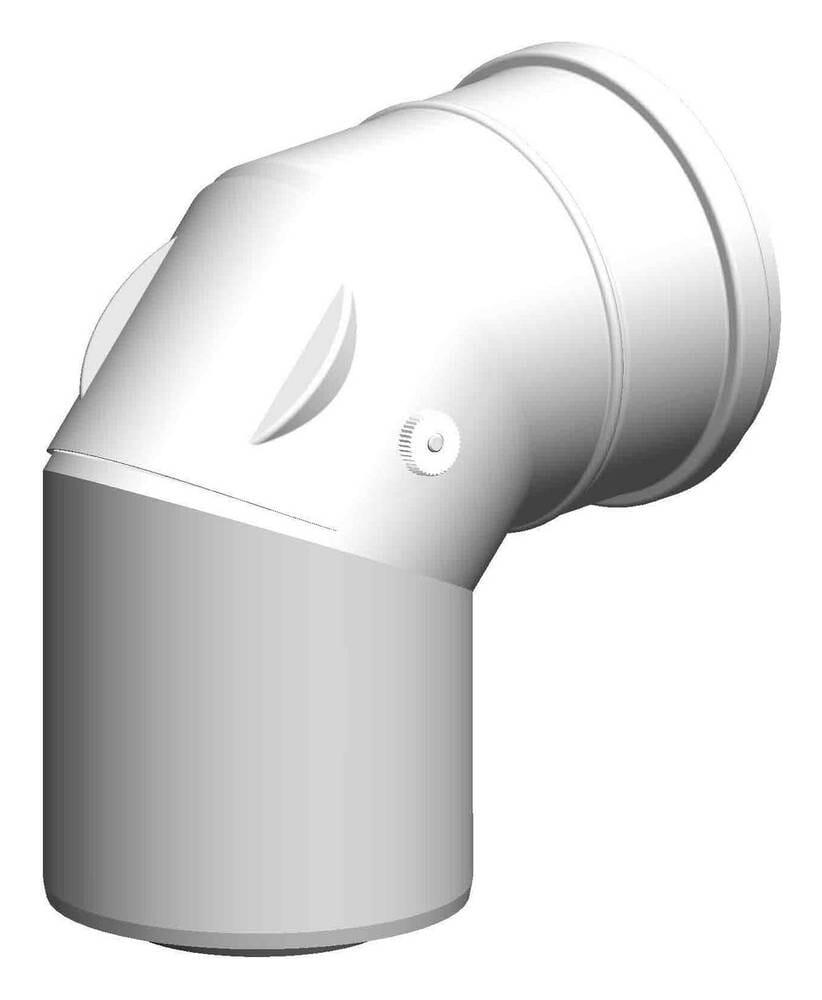 ATEC Abgas 87°-Kontroll-Bogen DN 80/125 konzentrisch